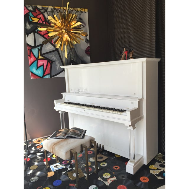 Vintage Lacquered White Piano - Image 8 of 10