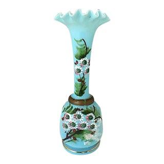 Turquoise Opaline Vase