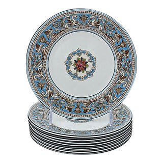 Wedgwood Florentine Enameled Plates - Set of 8