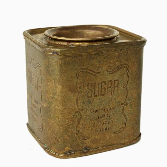 Image of Brass Vintage Tea & Sugar Tins