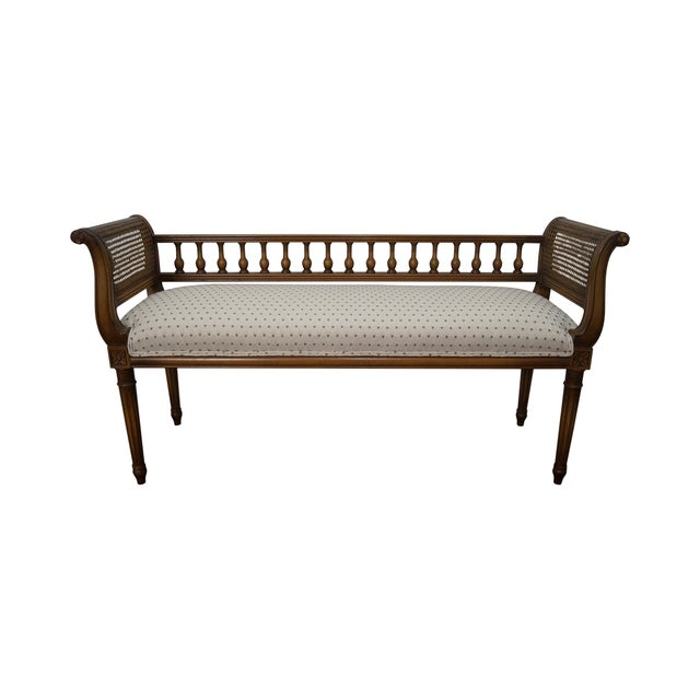Vintage French Louis XVI Style Window Bench - Image 1 of 10