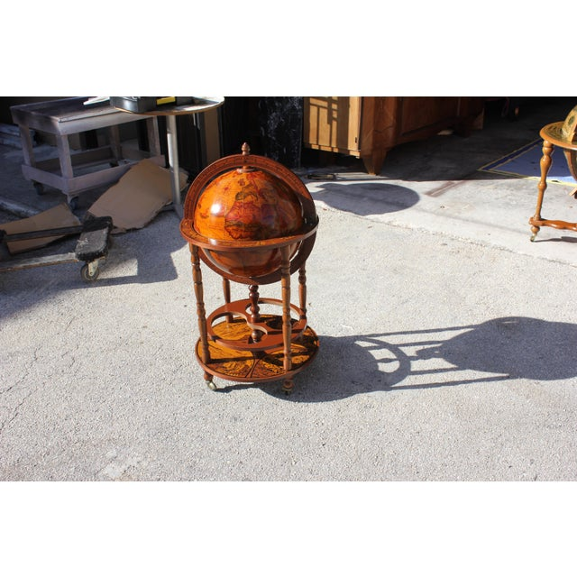 1950s French Art Deco Style Globe Bar - Image 3 of 11