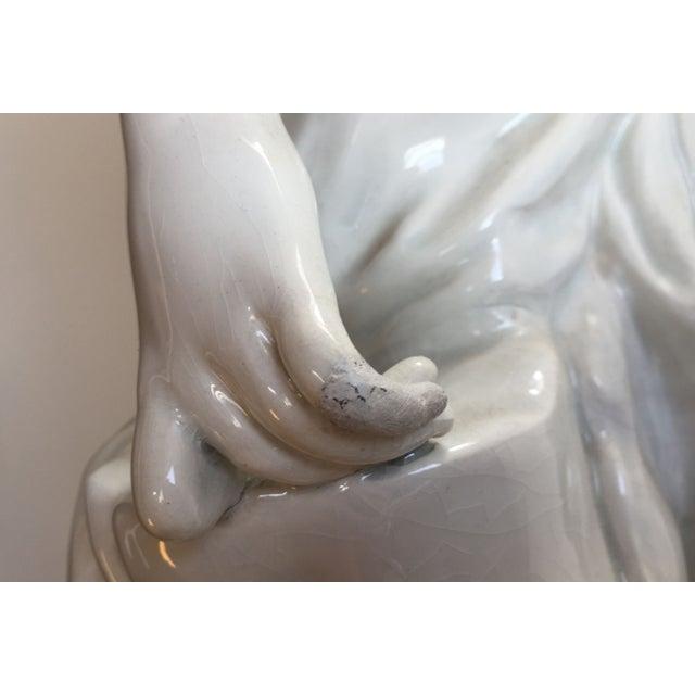 19th C. Falconet Porcelain 'Bather' Sculpture - Image 9 of 10
