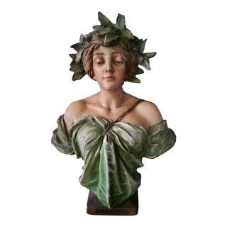 French Art Nouveau 'Daphne' Bust