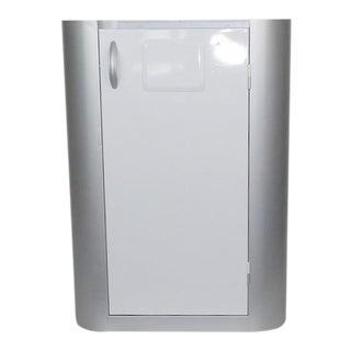 Gray White Cabinet Wine Barware Storage