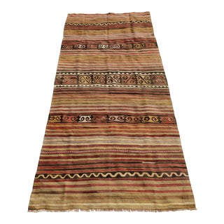 Vintage Turkish Anatolian Kilim- 4′10″ × 11′