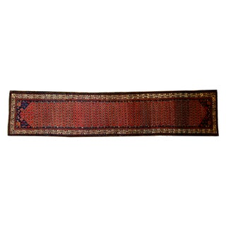 "Traditional Vintage Serbend Rug Runner - 3'6"" x 16'2"""