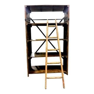 Vintage Storage Unit with Ladder