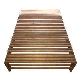 Solid Maple Full Sized Japanese Style Handmade Platform Bed. Vintage   Used Furniture   Chairish