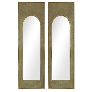 Mastercraft Etched Brass Mirrors - A Pair