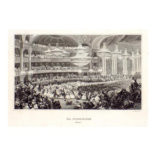 """""""The Opera House in Paris"""" 1855 Engraving"""