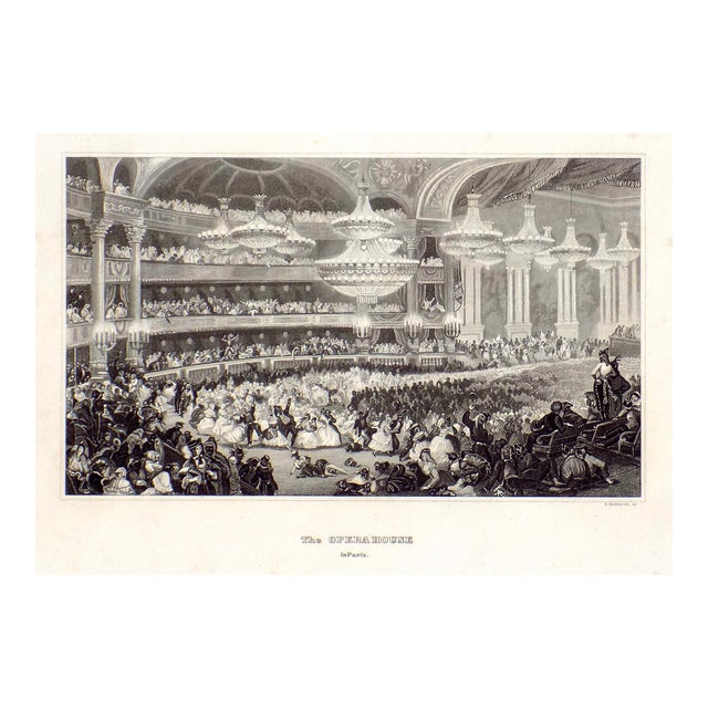 """""""The Opera House in Paris"""" 1855 Engraving - Image 1 of 6"""