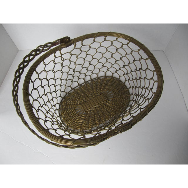 Brass Woven Basket - Image 5 of 5