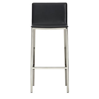 CB2 Phoenix Carbon Grey Bar Stools - A Pair