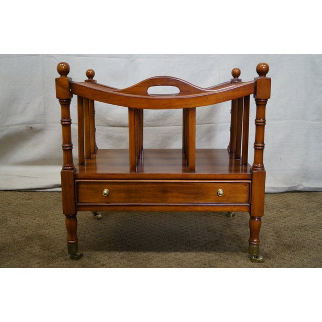 Maitland Smith Mahogany Magazine Stand - Image 2 of 10