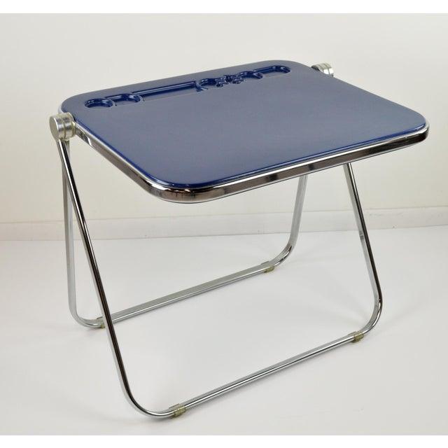 "Giancarlo Piretti ""Platone"" Desk by Castelli - Blue - 1970's - Image 2 of 8"