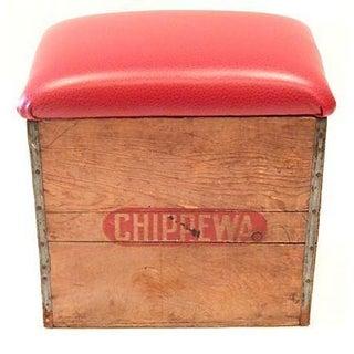 Wood Chippewa Crate Seat