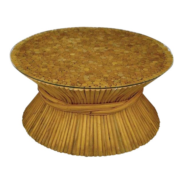 Image of Sheaf Of Bamboo Coffee Table Attr McGuire