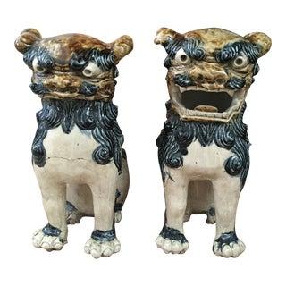 Shishi Foo Dog Figurines - A Pair