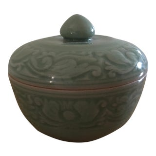 Asian Celadon Trinket Box