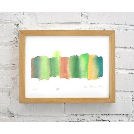 'Delta' Original Abstract Watercolor Painting - Image 4 of 4