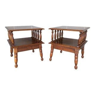 Moosehead Furniture Tier Maple End Tables - A Pair