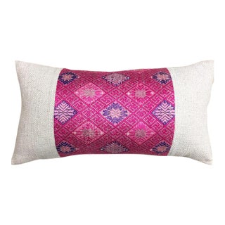 Pink Silk & Cotton Pillow