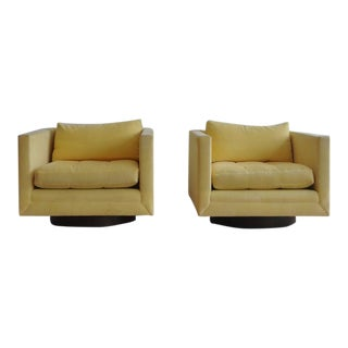 Pair of Harvey Probber Swivel Cube Chairs
