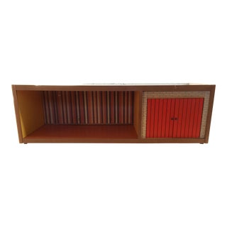 Vintage Mid-Century Modern Toy Garage House Shelf