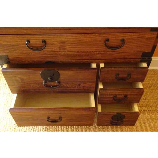 Image of Japanese Style 3 Piece Stacking Tansu Clothing Chest