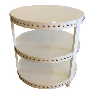 White 3 Tier Side Table