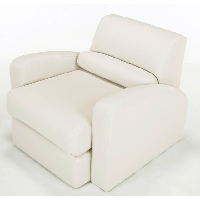 Jay Spectre Steamer Lounge Chair with Ottoman - Image 5 of 6