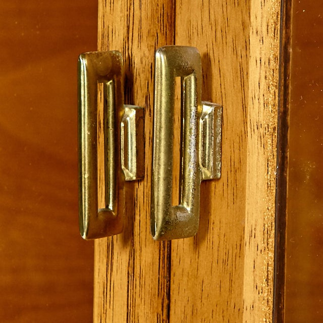 60s Drexel Caned Front Hutch on Hairpin Legs - Image 7 of 8