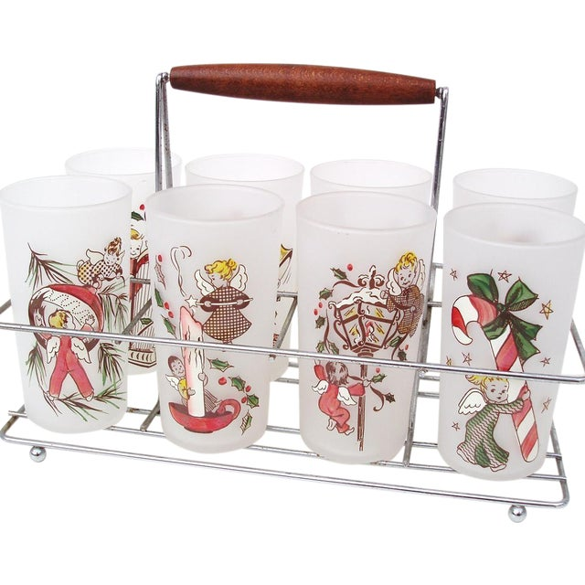 Rare Angel Barware Gay Fad Glasses Caddy - S/9 - Image 1 of 7