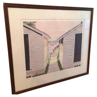 Pastel Lake House Framed Print