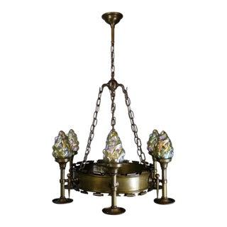 Early Tudor Revival Ring Fixture (6-Light)