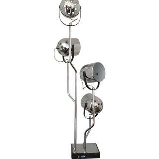 Vintage Modern Chrome 4-Light Lamp