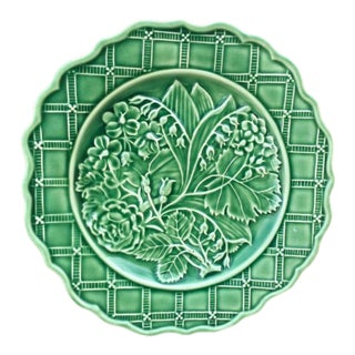 Rare Tiffany & Co. Green Majolica Lily of the Valley Plate