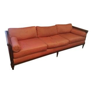 Vintage Victorian Silk Upholstered Sofa