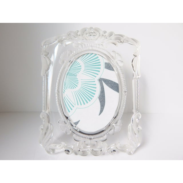 Image of Etched Clear Glass Picture Frame