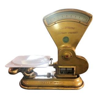 Toledo Antique Gold Store Scale