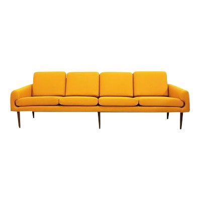 Yellow Mid-Century Modern Couch - Image 1 of 8