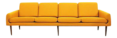 yellow midcentury modern couch