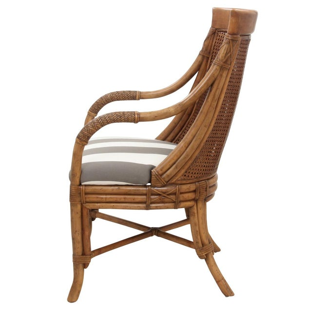 Bamboo Dining Chairs - Set of 8 - Image 7 of 9
