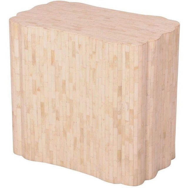 Image of Bone Inlay Rectangular Side Table