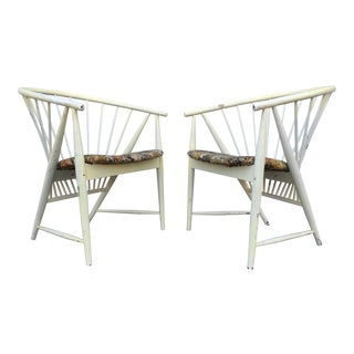 Vintage Swedish Spindle Chairs - A Pair