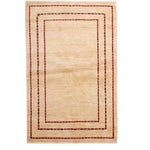 "Image of Contemporary Hand Knotted Area Rug - 4'1"" X 6'4"""
