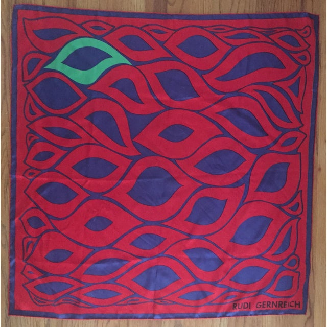 Designer Rudi Gernreich Silk Scarf - Image 2 of 7