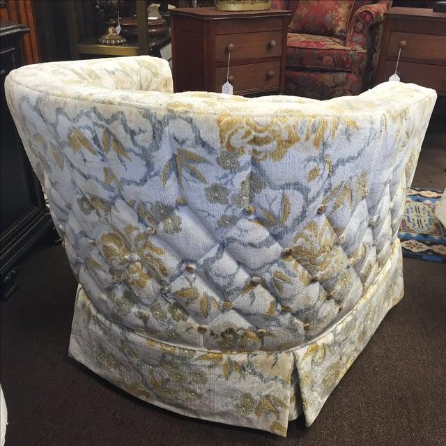 Image of Mid Century Ruffles Club Chairs - Pair