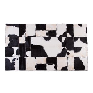 "Cowhide Patchwork Area Rug - 7'11"" x 4'7"""